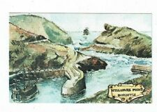 CORNISH POST CARD OLD ENGLISH SERIES WILLAPARK POINT BOSCASTLE