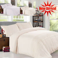 Duvet Cover With 2 Pillow Sham Bedding Set Quilt Lace Covers Double King Size UK