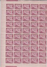 Liberia # C41 (50) MNH Half Sheet 1944 Air Mail Set Map Airpalne