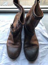 HTC Hollywood Trade Company Leder Stiefel Boots Nieten braun Gr.10 44 599€ Rar