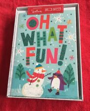 """Seasons from Hallmark Christmas Cards Holiday Boxed Cards """"Oh What Fun"""" �⛄�"""