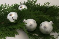 Christmas Tree Decor Balls Decoration Glitter Silver Star