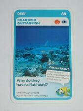 Woolworths Aussie Animals Card - Reef - #88 Sharkfin Guitarfish