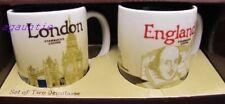 New Starbucks Coffee London & England Global Icon Mini Demitasse Espresso Mugs