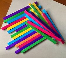 10 x Colour Balsa Wood Sticks 15cm DIY Pet Bird Rabbit Toy Part Craft Balsawood