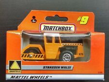 Matchbox Road Roller Strassen Walze Orange #9 German Issue 1998 Mint In Box
