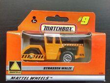 Matchbox Road Roller Strassen Walze Orange #9 German Issue 1998 Mint In Box