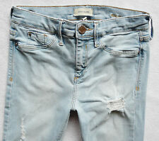 River Island Ladie Jeans Size 8 R light Blue rips Molly jeggings mid rise 28/30
