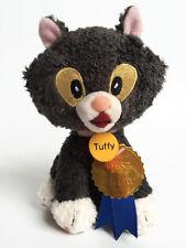 "Disney Best Of Show ""Tuffy"" Three Orphan Kittens 6"" Grey Cat Plush Toy Beanie"