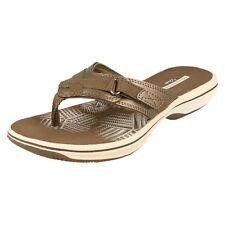 Ladies Clarks Toe Post Sandals - Brinkley Sea