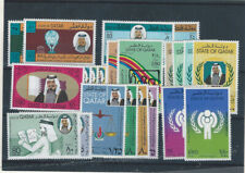 Middle East  Qatar Quatar 8 mnh stamps sets from the 70s and 80s