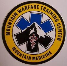 Window Bumper Sticker Military Marine Mountain Warfare Mountain Medicine NEW