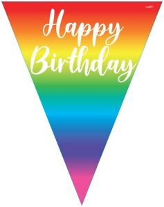Happy Birthday Rainbow Banner Bunting Party Hanging Party Decoration Partyware