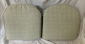 """New Tommy Bahama Indoor Outdoor Chair Cushions Pads Pair Set 20"""" X 20"""""""