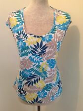 FANTASTIC Laura Ashley PRETTY LEAF DETAIL  FITTED TOP size 18 L@@@@K!!!!!!!!!!!!