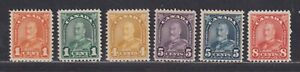 Canada Scott 162//172 F/VF MNH 1930 Arch Issues Six Different SCV $84.50