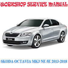 SKODA OCTAVIA MK3 NE 5E 2013-2018 WORKSHOP SERVICE MANUAL (DIGITAL e-COPY)
