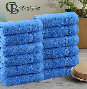 Pack OF 12 100% COTTON FACE CLOTH TOWELS FLANNELS WASH CLOTH 500 GSM !!