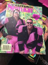 WWF WWE Wrestling Spotlight Magazine 1991 Vol 11 Bret Anvil Hart +Poster