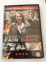 Fair Game DVD Sean Penn Naomi Watts FREEPOST VGC