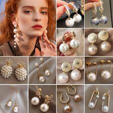 Fashion Pearl Crystal Earrings Stud Drop Dangle Women Wedding Jewellery Gifts