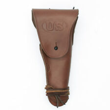 U.S. Wwii M1911 .45cal Brown Leather Hip Holster Embossed Us