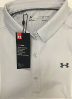 Under Armour Heat Gear Fitted Gray Golf Polo Shirt - Women's Large L *NWT*
