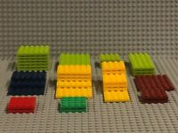 LEGO Studded Base Plates - Lot of 40 Plates.  Multiple Color and Multiple Sizes