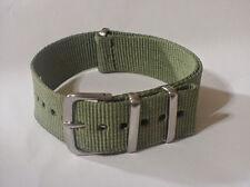 Army OD Green G10 Nylon 20mm Military strap band 4 Timex Weekender & ZULU watch