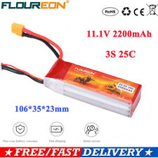 3S1P 11.1V 2200mAh 25C LiPo Battery Pack XT60 Plug for RC Car Airplane Drone FPV