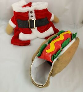 XS Dog Costume Lot Hot Dog Halloween Christmas Santa Suit Coat Williamstown