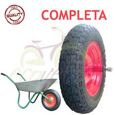RUOTA PNEUMATICO 3.50 - 8 (2PR) RICAMBIO CARRIOLA MODELLO VESPA ASSE LUNGO 155mm