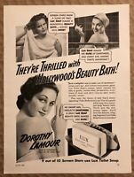 RARE Vintage 1941 LUX Toilet Soap AD DOROTHY LAMOUR Risqué Aloma of South Seas
