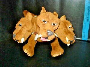 "Harry Potter Fluffy The 3 Headed Dog Plush Gund 7048 Stuffed Toy 2000 11"" tall"