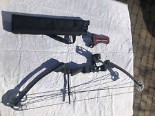 Genesis Pro Bow - Black, Right Handed, With Quiver Arm Guard And Three Pin Sight