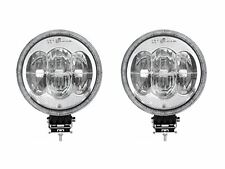 "2x 12/ 24v 9"" Round Cree LED Spot Lights Lamp DRL / Park Light Dual Function CE"