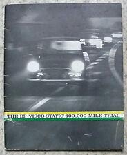 La BP VISCO STATIC 100.000 miglia prova OPUSCOLO PUBBLICITARIO 1962 MINI Hillman Minx
