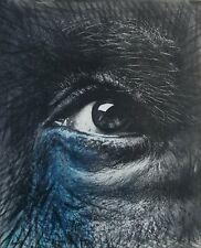 "Painting by Yosvany Arango Mixed Media on Canvas Original Cuban Art 13x16 ""Eye"""