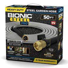 Bionic Steel Pro Heavy Duty 304 Stainless Steel Metal Garden Hose 4 Sizes