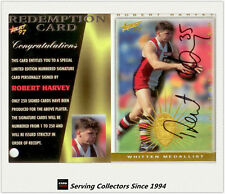 1997 Select AFL Ultimate Series Signature Redemption Card SC6 Robert Harvey-St.K