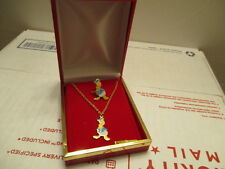 VINTAGE DISNEY DONALD DUCK NECKLACE  WITH RING SET WALT DISNEY PRODUCTIONS