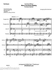 4 Christmas Carols for BRASS QUARTET. Sheet music with FREE US PRIORITY shipping