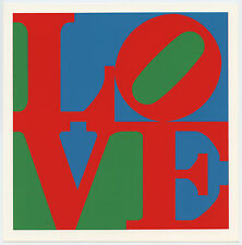 """Robert Indiana silkscreen """"LOVE"""""""