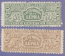 Colombia Cundinamarca Cigarette Revenues Forbin #5-6 mint 20c 50c 1904