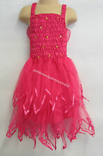 Fairy Dress With Wings Ballet Tutu Dance Costume Hot Pink 4-6 Years Polyester