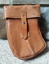VTG Leather Magazine Four 4 Clip Ammo Belt Right Side Pouch Case Holder Sheath