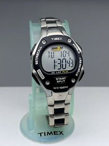 Timex Women's Ironman Triathlon 30-Lap Flix Digital WR Resin Watch Metal Band