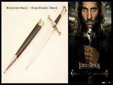 New Miniature Narsil-Lord of the Rings King Elendil Dagger Sword with Scabbard