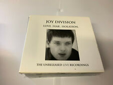 Joy Division ‎– Love Fear Isolation CD RARE Unreleased Live Recordings EX/EX