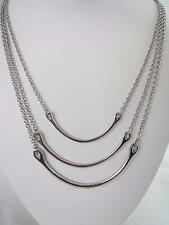 Kenneth Cole silver tone triple strand bar necklace, NWT